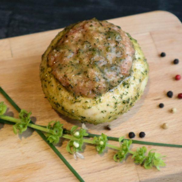 Gevulde Portobello met Half om Half gehakt Vleeshouwerij Saasveld