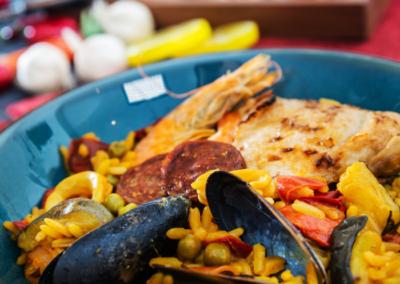 Bereidingstip; Paella Mixta met chorizo worst en kip
